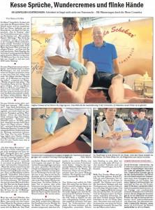 Esslinger Anzeiger, Hala Schekar Artikel, Haarentfernung für Männer, Zuckerpaste, Sugaring, Messe, Dagmar Schwab