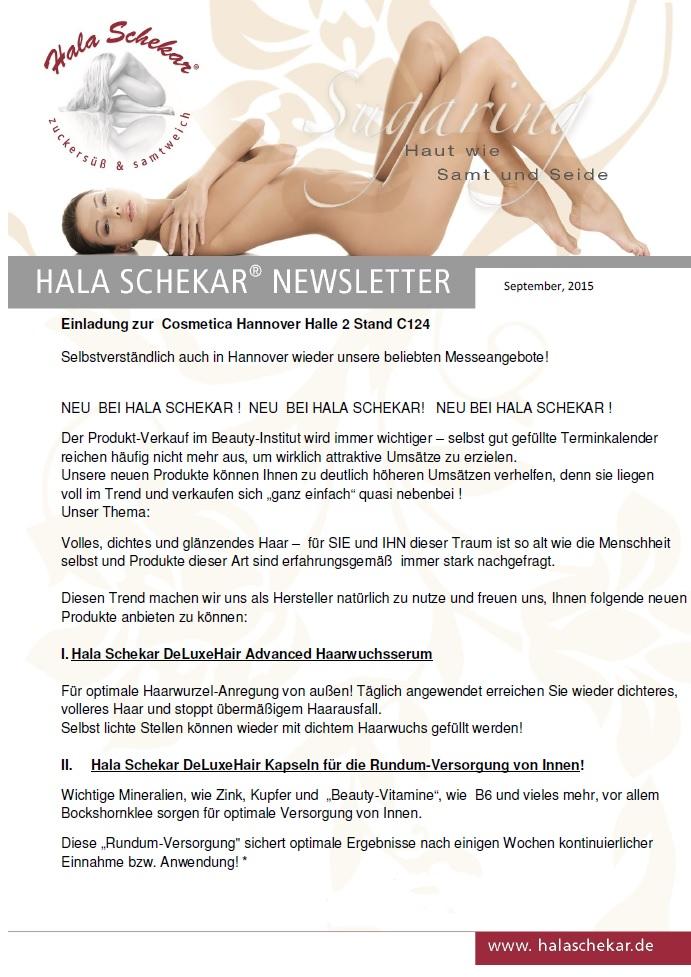 Newsletter September 2015 ohne preise