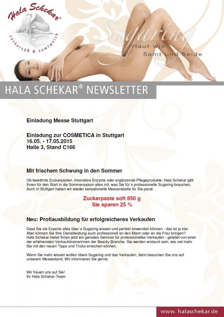 Cosmetica Stuttgart, Messe Stuttgart, Beauty Messe, Kosmetik Messe, Stuttgart, Hala Schekar, Sugaring, Zuckerpaste, Haarentfernung